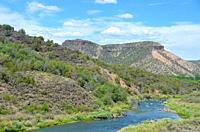 Rio Grande river, near Pilar, New Mexico.