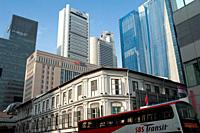 19. 07. 2018, Singapore, Republic of Singapore, Asia - A view of office buildings in Singapore's central business district.