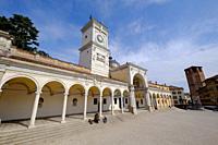 Loggia di San Giovanni and the Clock Tower, Piazza della Libertà, Udine, Friuli Venezia Giulia, Italy, Europe