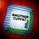 Another cuppa? Macmillan cancer support mat in Hospital in Crewe Cheshire UK