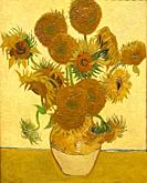 """""""Sunflowers"""", 1888, Vincent Van Gogh, National Gallery, London, England, UK."