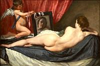 """""""The Toilet of Venus (The Rokeby Venus)"""", 1647-1651, Diego Velázquez, National Gallery, London, England, UK."