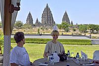 Rama Shinta Garden restaurant, Prambanan Temple Compounds, region of Yogyakarta, Java island, Indonesia, Southeast Asia.