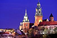 Wawel: View of the cathedral, Krakow, Poland.