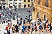 Spanish steps and Piazza Di Spagna in Rome,Italy