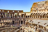 The ancient Colosseum in Rome,Lazio,Italy.