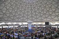 Uzbekistan; Tashkent, Chorsu Bazaar, market, interior, people,.