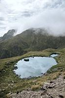 A little lake going up to the border of spain and france, the picture was taken near the ski resort of Astun in spain.