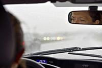 driving in rainy conditions, Malopolska Province (Lesser Poland), Poland, Central Europe.