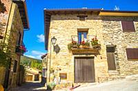 Traditional architecture. Horcajuelo de la Sierra, Madrid province, Spain.