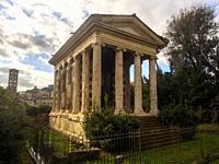 Temple of Portunus in the Forum Boarium - Rome, Italy.