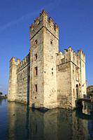The scaliger castle of Sirmione, Brescia province, Italy.