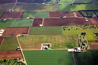 Aerial view of the Mallorca field, Balearic Island, Spain. .