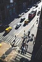 View from above of SoHo street, Manhattan, New York.