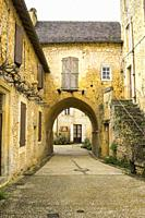 Exterior of Cadouin Abbey in the Dordogne France.