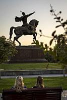 Amir Timur statue, in Amir Timur square, Tashkent, Uzbekistan.