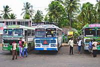 Embilipitiya bus station, Sri Lanka.