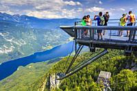 Lake Bohinj from Vogel ski area. Triglav National Park. Upper Carniola region. Slovenia, Europe.