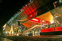 Maremagnum shopping center at dusk, Barcelona, Catalonia, Spain