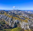 View from Los Machucos o Colláu Espina, Located at 921 metres (3,022 ft) above sea level and communicates the villages of Bustablado and San Roque de ...