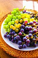 Plate of grapes.