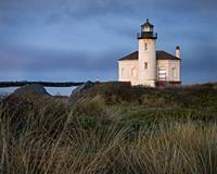 Coquille River Lighthouse, Bullards Beach State Park, Bandon, southern Oregon coast.