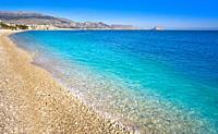 Albir beach in Alfas del Pi of Alicante Spain at Costa Blanca.