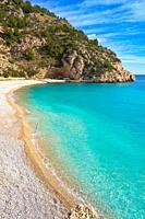 La Granadella beach in Mediterranean Javea also Xabia in Alicante Spain.