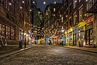Stone Street Manhattan NYC - One of the oldest streets in the heart of the Financial District in New York City. . . Originally known by its Dutch name...
