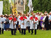 Poland. Punsk (capitol of polish Lithuanian minority). The Assumtion of Mary procession on the 15 of August