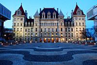 New York State House at Empire Plaza, Albany, New York.