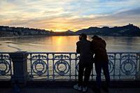 Paseo de La Concha, Alderdi Eder park, Donostia, San Sebastian, Gipuzkoa, Basque Country, Spain, Europe