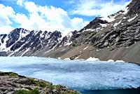 "Ala Kol lake """"3500 masl"""" in Tien Shan mountains, Kyrgyzstan."