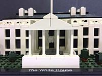 The White House, made of Lego bricks. . . .