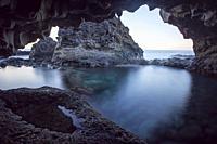 Charco Azul, Blue Pool, El Hierro Canary islands Spain.