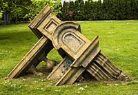 Sculpture, Tip, by artist John Radford, in Western Park in Ponsonby, Auckland, New Zealand.
