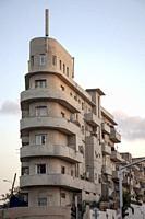 Bauhaus Apartments in Neve Sha'Anan Area of Tel Aviv, Israel.