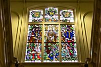 Stained Glass in Villa Constance, Oss, The Netherlands, Europe.