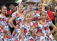 Chile, Lake District, Nueva Braunau, folklore festival, people,.