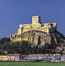 The Castle of Almansa (Albacete) Spain. . Almansa is situated at a frontier between several regions and borders and being such a prominent building ha...