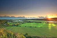Shoreham flyover at sunset, West Sussex, Uk, Gb.