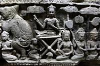 Fragment of bas relief at Angkor Wat complex, angkor archaeological park, Siem Reap province, Cambodia, South east Asia.