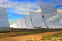 Solar power plant, Sanlucar la Mayor, Seville province, Region of Andalusia, Spain, Europe.