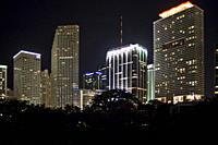 Miami downtown at night.
