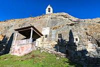 Iglesia Rupestre de los Santos Justo y Pastor, Olleros de Pisuerga, Montaña Palentina, Palencia, Castilla y Leon, Spain, Europe.