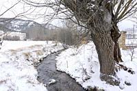 Winter landscape Alcala de la Selva Teruel Aragon Spain.