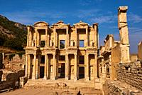 Turkey, Izmir province, Selcuk city, archaeological site of Ephesus, Celsus library.