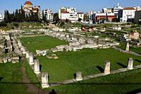 The Pompeion, between the Dipylon and the Sacred gate in Ancient Site of Kerameikos. Kerameikos is one of the most important but least visited archaeo...