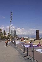 Barceloneta beach Barcelona Spain.