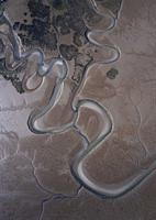 Aerial view, Marismas de Santoña, Noja y Joyel Natural Park, Cantabrian Sea, Cantabria, Spain, Europe.
